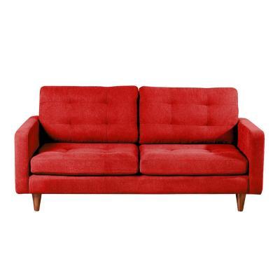 Sofá napoles 3c tela quality rojo