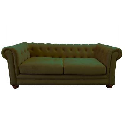 Sofá florencia 3c tela soft velvet verde