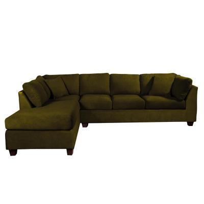 Sofá seccional padua izquierdo velvet verde