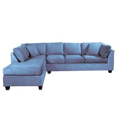 Sofá seccional padua izquierdo velvet azul petróleo