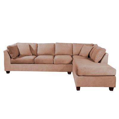 Sofá seccional padua derecho tela velvet beige