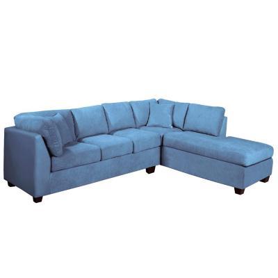 Sofá seccional padua derecho velvet azul petróleo