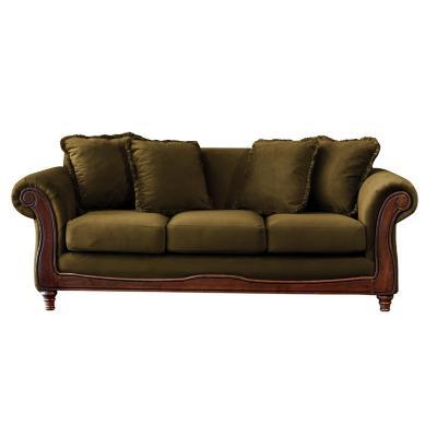 Sofá rimini 3c tela soft velvet verde
