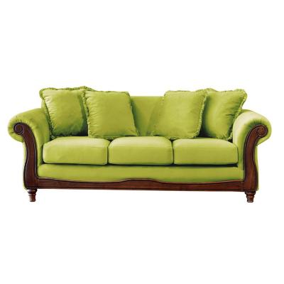 Sofá rimini 3c tela soft velvet pistacho