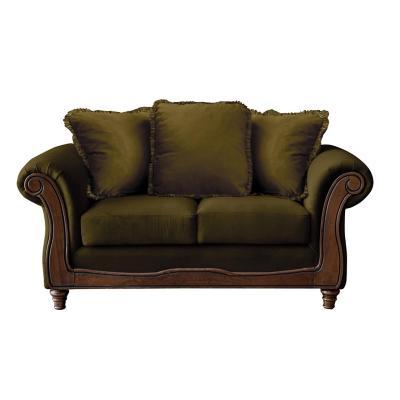 Sofá rimini 2c tela soft velvet verde