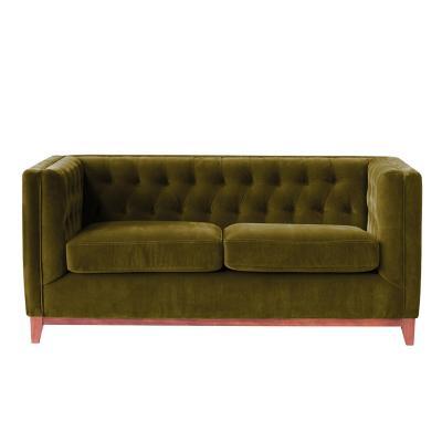 Sofá roma 2c tela soft velvet verde