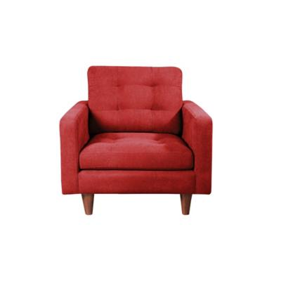 Sofá napoles 1c tela quality rojo