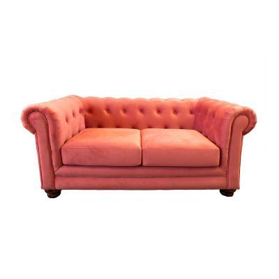 Sofá florencia 2c tela soft velvet palo rosa