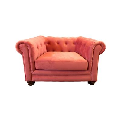 Sofá florencia 1c tela soft velvet palo rosa