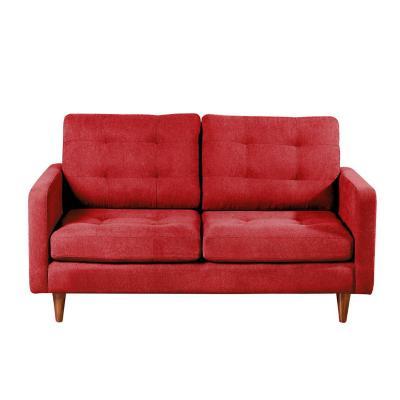Sofá napoles 2c tela quality rojo