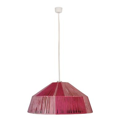 Lámpara colgante rosita metal tejida rosada 1 luz E27