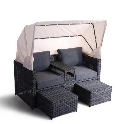 Sofás de terraza con sombrilla 2 personas