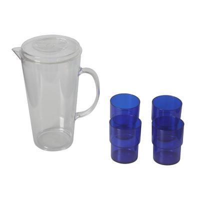 Set jarro + 4 vasos acrílico