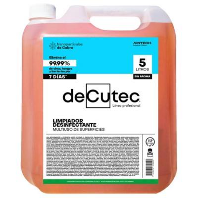 Desinfectante Amonio Cuaternario con Nanopartículas de Cobre 5 l