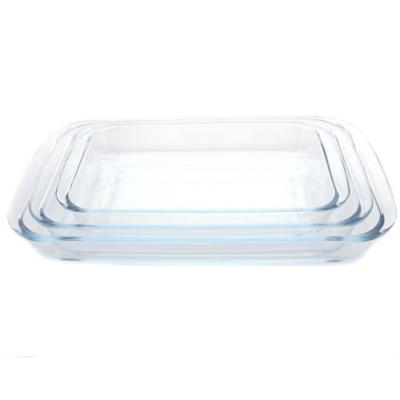 Asadera vidrio rectangular