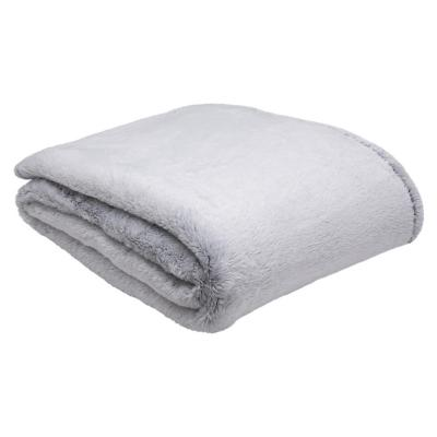Frazada cozy fleece 1,5 plazas gris