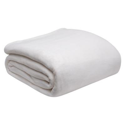 Frazada milky fleece 1,5 plazas blanco