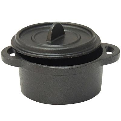 Ollita fierro fundido circular negro 7x5x10 cm