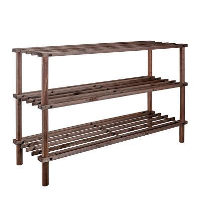 Rack zapatero madera con 3 niveles 28x63x26,5 cm