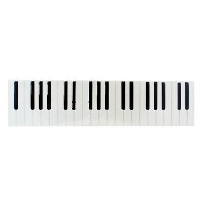 Colgador de muro diseño piano 15 cm blanco