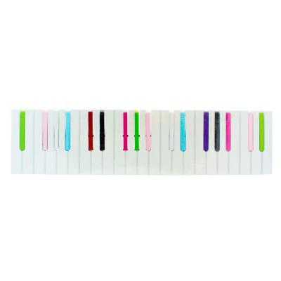 Colgador de muro diseño piano 15 cm multicolor