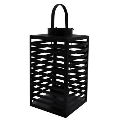 Farol decorativo metal 24 cm negro