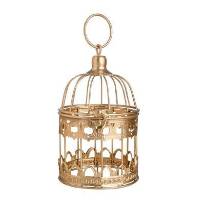 Jaula decorativa metal 20 cm dorado