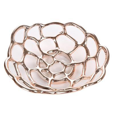 Centro de mesa rosse cerámica  30 cm rosado