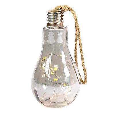 Lámpara decorativa led diseño ampolleta 22 cm gris