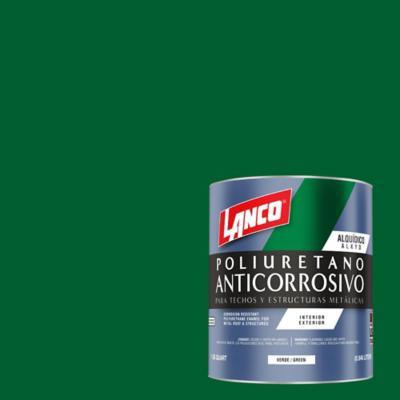 Anticorrosivo techos y estructuras metálicas verde 1litro