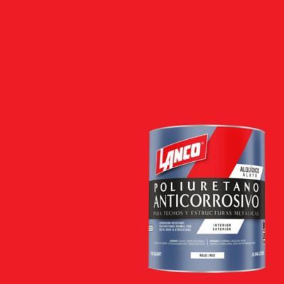 Anticorrosivo techos y estructuras metálicas rojo 1 litro