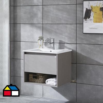 Mueble vanitorio Queen 61x46,5x50 cm Cool grey con lavamanos