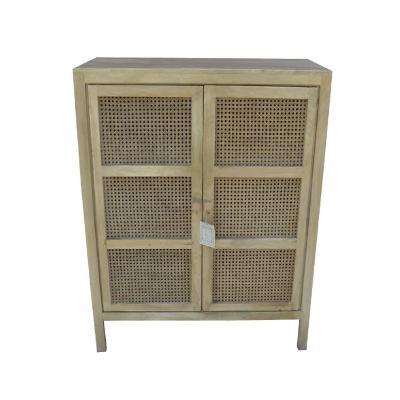 Mueble bar junquillo madera 88x42x115 cm café