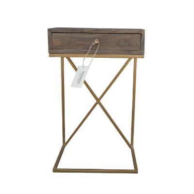 Velador madera cafe 40x30x66 cm