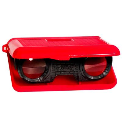 Binocular de bolsillo rojo