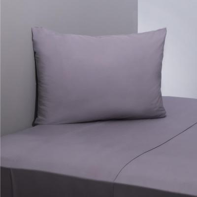 Juego sábanas 200 hilos liso gris 1 plaza