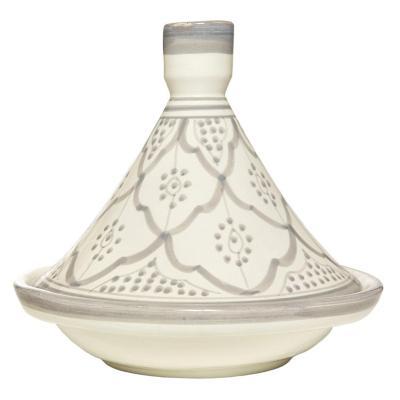 Tajine cerámica gris