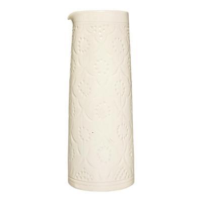 Jarro largo cerámica 900 ml blanco