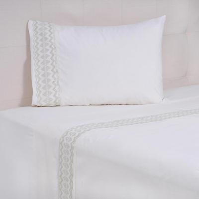 Juego sábanas Matilde 144 hilos beige 1,5 plazas