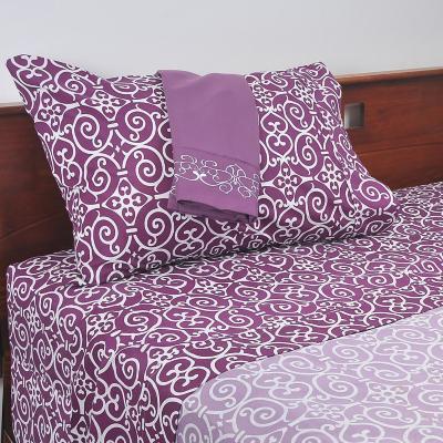 Juego sábanas violeta 1,5 plazas