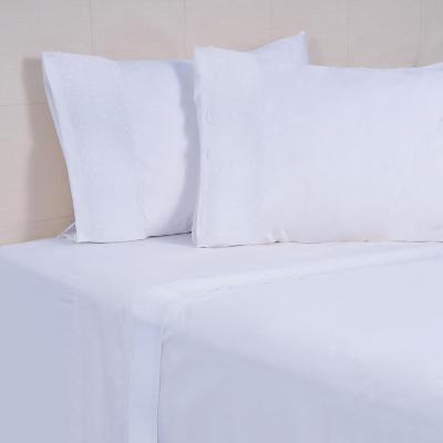 Juego sábanas romantic 144 hilos blanco king