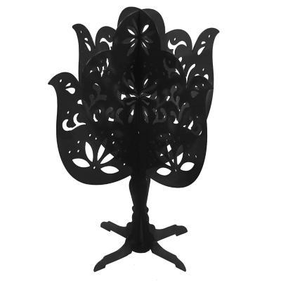 Porta joyas árbol metal 19 cm negro