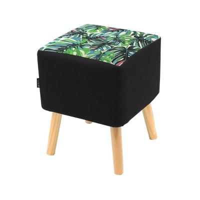 Pouf new old fashion negro 45x35x35 cm