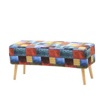 Banqueta patch Multicolor 45x35x100 cm
