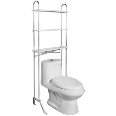 Estante organizador de baño 62,5x18x155 cm 3 repisas