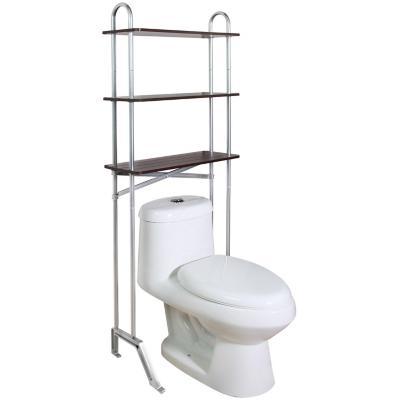 Estante organizador de baño 60,5x24x155 cm 3 repisas MDF