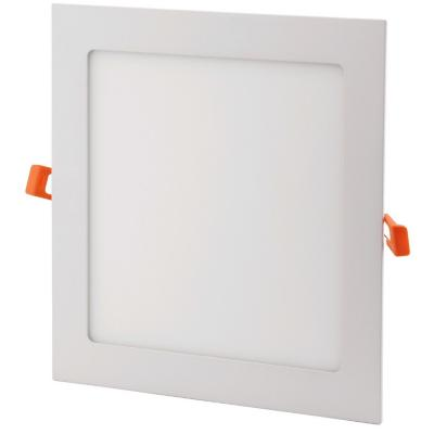 Panel led embutido cuadrado 12w luz cálida