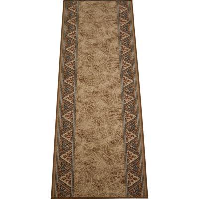 Alfombra pasillo pasillo eiger 67x180 cm café