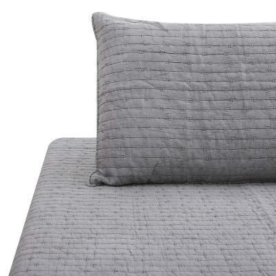 Quilt patchwork formas hebra gris 1,5 plazas