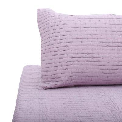 Quilt patchwork formas hebra rosa 2 plazas